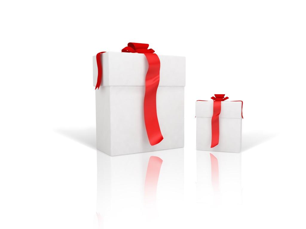 cadeau rouge et blanc